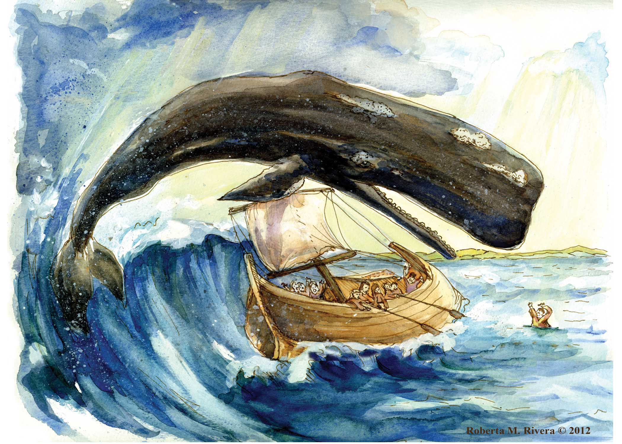 A whale of a tale making room for god for Fish in the bible