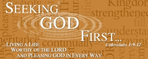 seeking God first banner